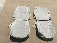 LEATHER SEAT COVERS FOR 2001-04 TOYOTA SEQUOIA OR TUNDRA FRONTS GREY A-359