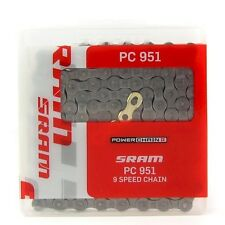 SRAM PC-951 BICYCLE BIKE CHAIN 9 Speed w/GOLD POWER LINK SHIMANO CAMPY New