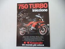 advertising Pubblicità 1983 MOTO KAWASAKI 750 TURBO INIEZIONE