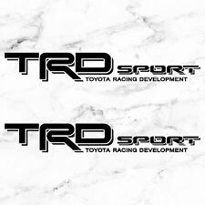 "TOYOTA TACOMA TRD SPORT DECALS STICKERS (2) 18""X3"" DECALS BLACK"