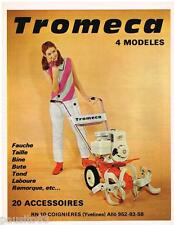 PUBLICITE ADVERTISING 105  1967  TROMECA  outillage de jardin