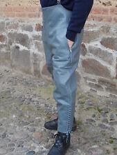 Motorradhose grau Leder  Lederhose  Rindsleder Breeches Gr. 46 -neuwertig