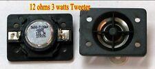 """2pcs 1"""" inch NdFeB tweeter Speaker 12 ohms 3 watts"""