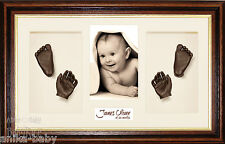 Twins 3D Baby Casting Kit Gift Make Bronze Hand Foot Casts + Display Photo Frame