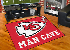 "Kansas City Chiefs Man Cave 34""x45"" All-Star Area Rug Mat"