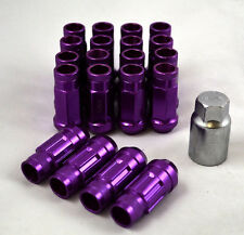 NNR Steel Extended Wheel Lug Nuts & Locks Open Ended Purple 49mm 12x1.5 20pcs