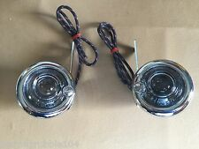 Harley Guide DH-49 P-H7 Bullet Lamps Fish Eye Repro Clear Lenses  OEM 68500-49