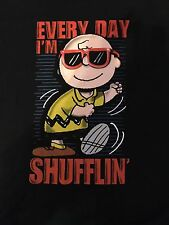 Charlie Brown Every Day I'm Shuffling Large T Shirt Peanut Snoopy Charles Schulz