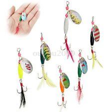 6x Leurres De pêche Appât Spinner Lure Fishing Cuillère Métallique Vitesses Bass