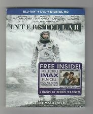 Interstellar Blu-ray/DVD ~ Widescreen ~ With Rare Imax Film Cell ~ Brand New!