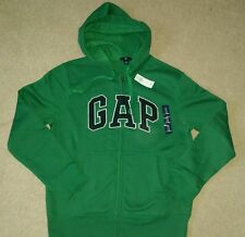 GAP MENS HOODIE WITH LOGO SIZE LARGE GREEN BNWT