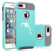 For Apple iPhone SE 5 5s 5c 6 6s 7 Plus Dual Shockproof Hard Case Cover Dolphin