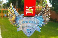 """RUN 1000 MILES CHALLENGE FINISHERS MEDAL 4.5"""" 2016 RUNNING BLING PLATINUM LEGEND"""
