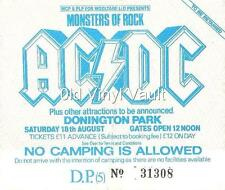 AC/DC-Monsters Of Rock,Donington Park,UK 1984-Laminated Repro Concert Ticket