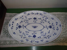 """B&G Bing and Grondahl Blue Butterfly Large Traditional Oval Serving Platter 18"""""""