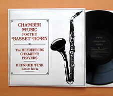 Chamber Music For The Basset Horn Heinrich Fink - ORYX 1809 Stereo EXCELLENT