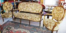 GOLD SOFA GARNITUR SET COUCH SESSEL THRON Barock Rokoko Louis seize XV XVI Baroq