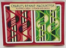 "Charles Rennie Macintosh Designer Playing Cards ""Furniture Fabric"" Design - NEW"