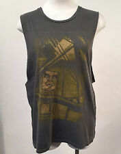 Obey Women's Muscle Tank Top Abstract Icon Dusty Black Size S NEW Shepard Fairey