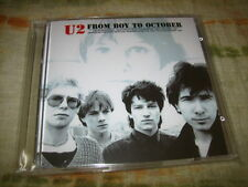 U2 From Boy To October 2CD RARE Import LIVE San Fancisco & Boston 1981