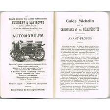 GUIDE MICHELIN Reprint de l'Édition 1900 Illustré de PLANS de VILLES et Dessins