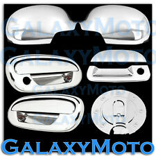 97-03 Ford F150 Chrome Mirror+2 Door Handle+NO KEYPAD, PSG KH+Tailgate+GAS Cover