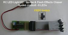 RC LED Light Kit - Strobe & Flash Effects Chaser - 8 Led's ( 4 Red & 4 White )