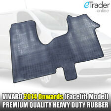 New Shape Vauxhall Vivaro Van 2014 Onwards Black Rubber Floor Mat Set Mats HDuty