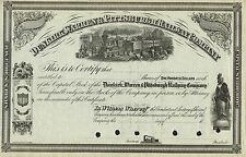 USA DUNKIRK WARREN & PITTSBURGH RAILWAY COMPANY stock certificate