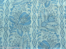 Suzanne Tucker Curtain Fabric CARITA 2.4m French Blue / White Linen Design 240cm