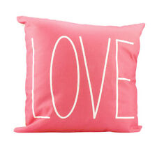 LOVE Coral Pink Accent Decorative Throw Pillow Home Decor Valentines Day Gift