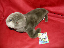 "1999 14""  Sea Lion Seal Brown Stuffed Plush   K&M International w/tag"