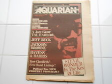 Vintage Oct 13 1976 Aquarian Weekly Music Magazine Stevie Wonder