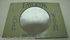 Antique LAVOPTIK Eye Wash Advertising Magnifying Mirror Sign Brown & Bigelow Co