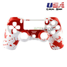 Blood Drop Front Shell Case Faceplate Repair for Dualshock 4 PS4 Controller