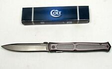 Colt Titanium Stiletto Slim Dagger Folding Knife - CT341 - FREE SHIPPING