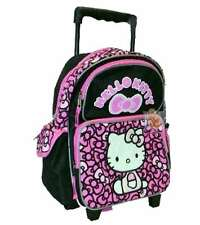 Hello Kitty Toddler Rolling Backpack Ribbons Black/Pink, New
