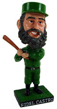 "Fidel Castro Cigar Smoking with Baseball Bat in Hand 7"" Bobblehead Desk Toy"