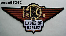 """LARGE"" LADIES of HARLEY DAVIDSON OWNERS GROUP HOG LOH BACK VEST JACKET PATCH"