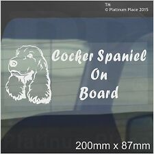 COCKER SPANIEL CANE A BORDO Sticker-car, van,truck-self Adesivo Pet finestra segno