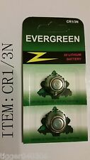 "2x New CR1/3N ""Evergreen"" 2L76 5008LC Lithium Batteries"
