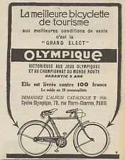 Z8645 OLYMPIQUE bicyclette de tourisme - Pubblicità d'epoca - 1926 Old advert