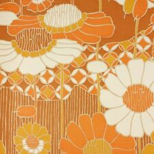 Iconic 1970s Floral Wallpaper Vintage Original 60s 70s
