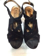 Black Office London Wind Up Wedge Sandals EUR Size 41 Uk 8