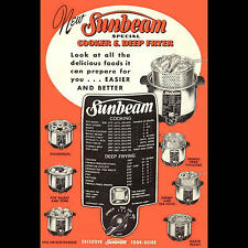 VINTAGE 1952 SUNBEAM DEEP FRYER & COOKER COOKING GUIDE - PDF DOWNLOAD