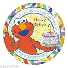 SESAME STREET Elmo's World LARGE PAPER PLATES (8) ~ Birthday Party Supplies