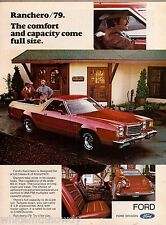 1979 FORD Ranchero Red Pickup Truck AD