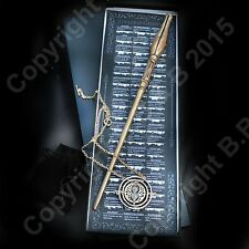 Luna Lovegood Wand with Beautiful Time Turner Necklace Hp