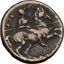 Larissa in Thessaly 350BC RARE Authentic Ancient Greek Coin Nymph Horse  i45656