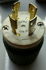 Hubbell Twist Turn Lock Connector Plug NEMA L14-30P 30A 125/250V Bulk L1430P
